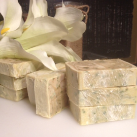 Cucumber & Mint Essential Oil soap with real cucumbers