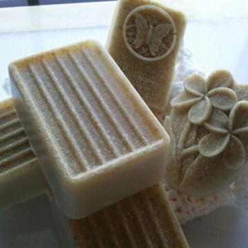 Oatmeal Milk & Honey soap LARGE ultra-rich with shea and cocoa butter goats milk, 6 oz each, pumice and oatmeal