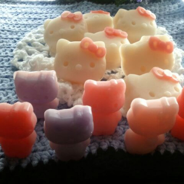 10 Handmade Gift Soaps Kitty soaps 1/2 oz each ultra-rich Shea and Cocoa butter goats milk
