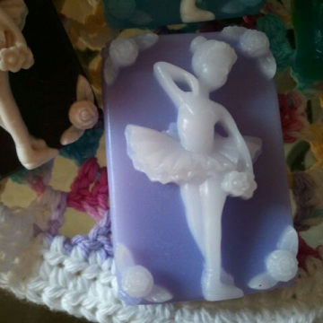 10 Ballerina Gift Soaps ultra-rich Shea and Cocoa butter goats milk soap, 3-1/2 oz each, you select fragrance and color
