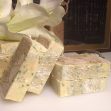 Cucumber Mint Essential Oil Luxury Spa Bar Soap with Shea & Cocoa butter, real cucumbers 4.5 oz