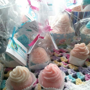 1 Cupcake Soap shea butter and goat's milk soap (small 1.25 oz) you select scent and color ultra rich