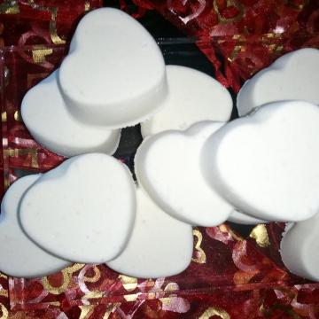 Wedding favors 100 Little hearts bath bomb fizzies (U-Pick Fragrance & colors)