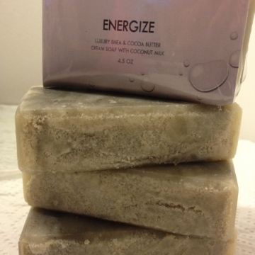 Energize Bar - Luxury Spa Bar with Shea & Cocoa Butter, Coconut Milk, Dead Sea Clay, 4.5 oz