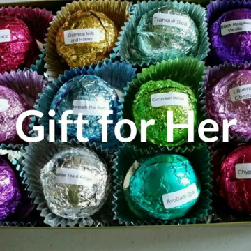 Gift Set for HER with 12 Luxury Bath Bombs in our Best Selling Scents - foil wrapped 2.5 oz bath bombs, makes an exceptional gift