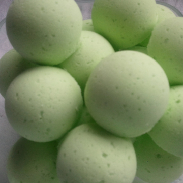 14 bath bombs in Detox Spearmint & Eucalyptus gift bag bath fizzies with shea and cocoa butter, ultra moisturizing